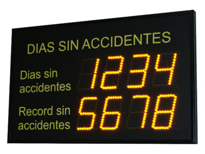 Days without an accident Display