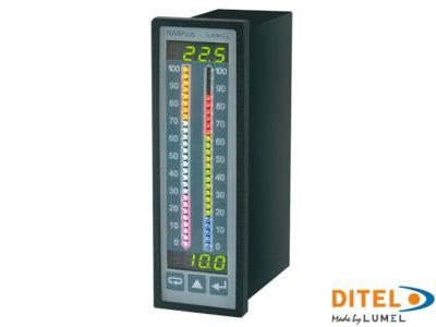 Panel meter 100 V DC DIN RAIL MOUNT ou avec une ingéniosité Panel MT MU100DR 502